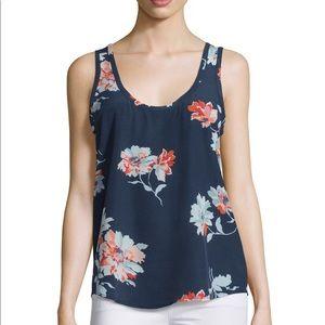 Joie Annabeth Tossed Bouquet Silk Tank size S
